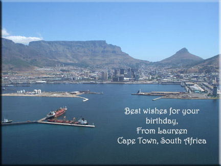 Happy Birthday from Cape Town!